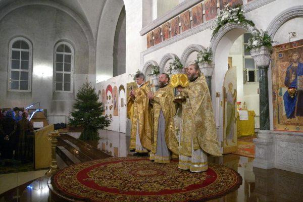 Праздник Рождества Христова в храме Василия Исповедника