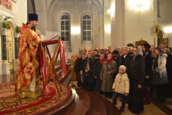 Светлая Христова Пасха в храме преподобного Василия Исповедника.