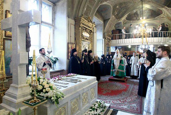 Святейший Патриарх Московский и всея Руси Кирилл совершит панихиду