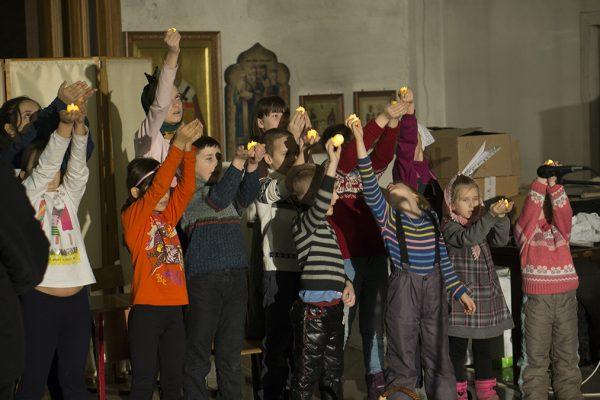 Репетиция рождественского спектакля театральной студии нашей Воскресной школы