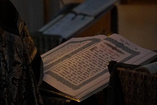 СЛУЖБА С ЧТЕНИЕМ 12 ЕВАНГЕЛИЙ (Страстные Евангелия) в храме прп. Василия Исповедника у Рогожской заставы