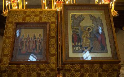 Литургия в день празднования Собора московских святителей и юбилей игумена Серафима (Кравченко)