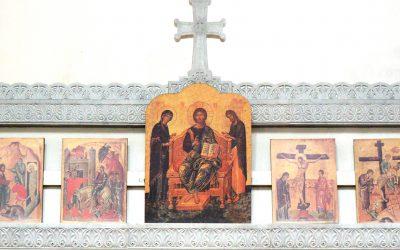 Божественная литургия и Чин Торжества Православия были совершены в храме преподобного Василия Исповедника у Рогожской заставы.
