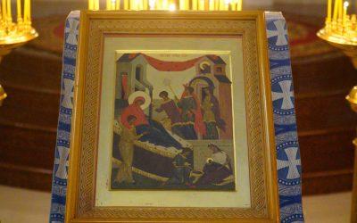 Праздничная литургия в день Рождества Пресвятой Богородицы в храме преподобного Василия Исповедника у Рогожской заставы